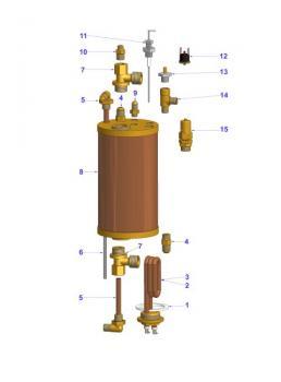 Boiler Junior Heating Exchanger Espresso Machine Parts