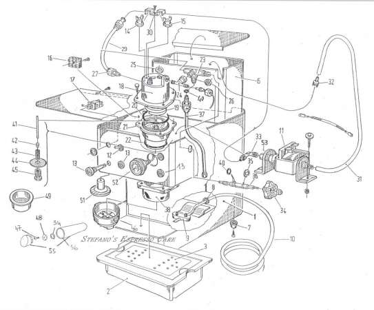 Isomac Home Machines besides Saeco Starbucks Sirena Drawing 2 furthermore Boiler Parts List furthermore Rancilio Spare Parts 12 Silvia Group Head likewise Bench Grinder Wiring Diagram. on rancilio parts