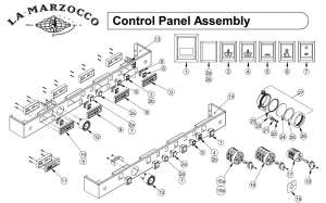 La Marzocco Control Panel Assembly - Drawing A