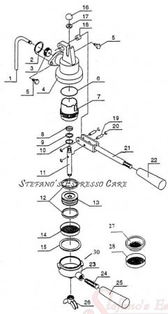 la pavoni espresso machine parts