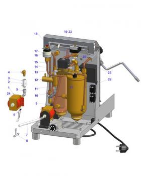 water circuit junior double boiler espresso machine parts. Black Bedroom Furniture Sets. Home Design Ideas
