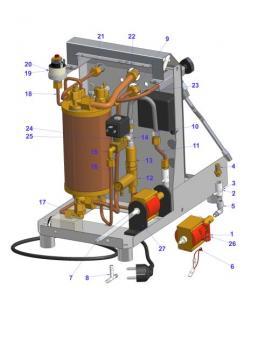 Water Circuit Junior Heating Exchanger Espresso Machine