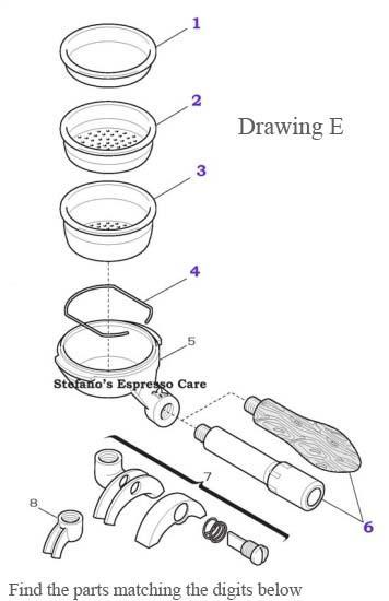 Drawing E Elektra Portafilter Espressocare