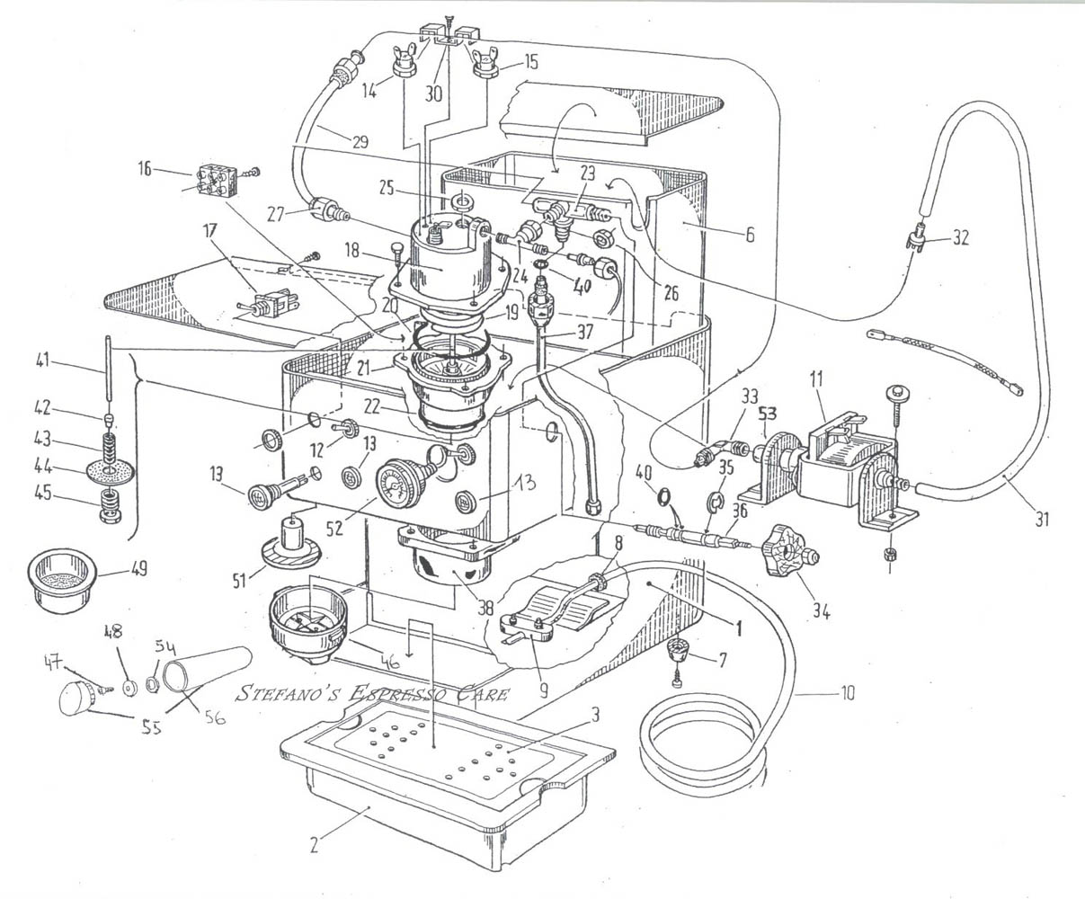 Isomac Giada Espressocare La Marzocco Wiring Diagram Scroll Down To See Parts Specific The They May Also Fit Other Machines Schematic Shows Details Before Changes Were Made At