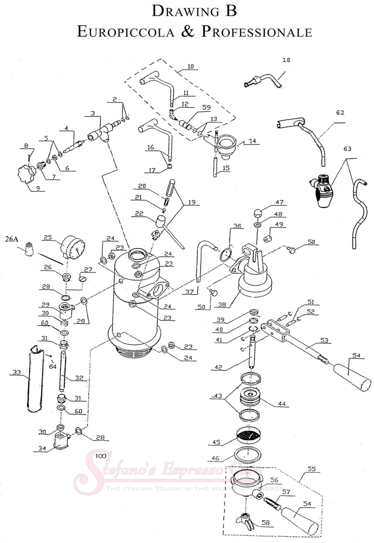 boema coffee machine electrical assembly diagram pdf