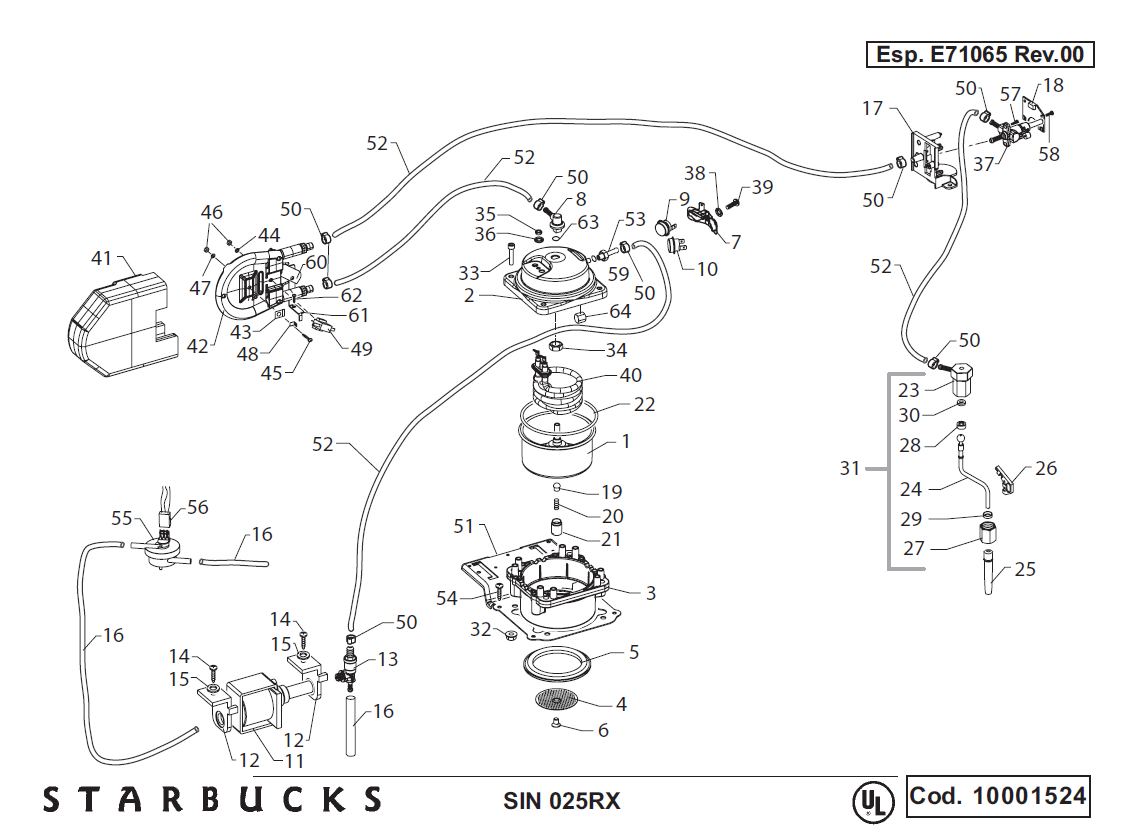 Saeco Starbucks Sirena Drawing 2 on wiring diagram for pioneer